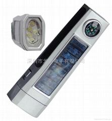 太陽能手電筒帶指南針