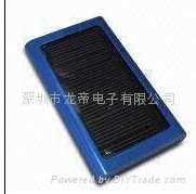 2000mA aluminum alloy shell solar charger
