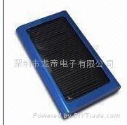 2000mA aluminum alloy shell solar charger