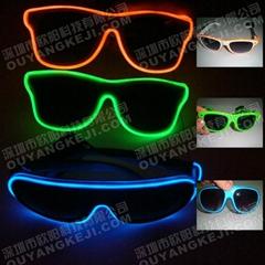 2013火爆供应 EL发光眼镜 闪光眼镜 冷光眼镜 发光玩具 霹雳发光眼镜