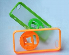 IPHONE 5 rotate rhfe brcket TPU+PC mobile shell