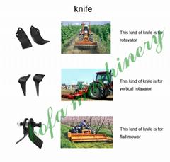 knives/hammer/blade for mower slasher