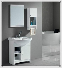 Modern Wooden MDF Bathroom Cabinet Vanities Set White Wholesale Price