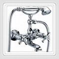 Brass Free Floorstanding Bathtub Faucet mixer tap with chrome