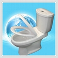 Two Piece S-trap Toilets Bowls Water Closet with slow down cover