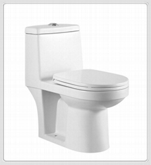 One piece porcelain toilet Wash down water saving Toilet - high quality