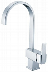 Gooseneck Pulldown Kitchen sink mixer Faucet tap chrome