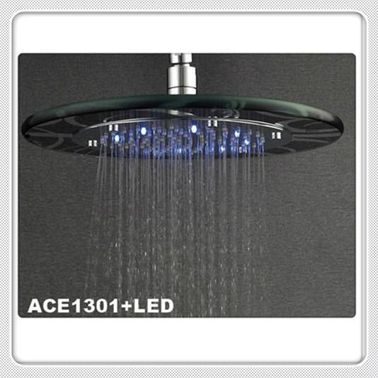 10/12 inch LED Glass Rain Shower Heads
