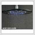 10/12 inch LED Glass Rain Shower Heads