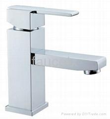 Square Bathroom Basin Faucet Mixer Tap