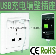 portable charger,mobile charger ,Wall Socket With Usb Port
