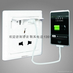 Wall switch socket/Power socket with USB port charges USB Devices