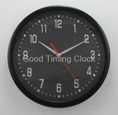 "Plastic Wall Clock with 12"" Diameter"