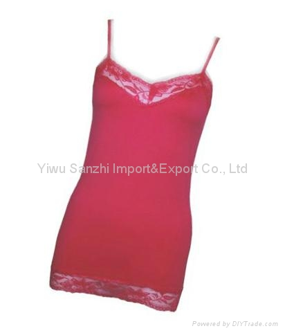 Seamless lace camisole ladies top 2
