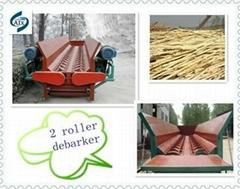 Double Roller Wood Debarker
