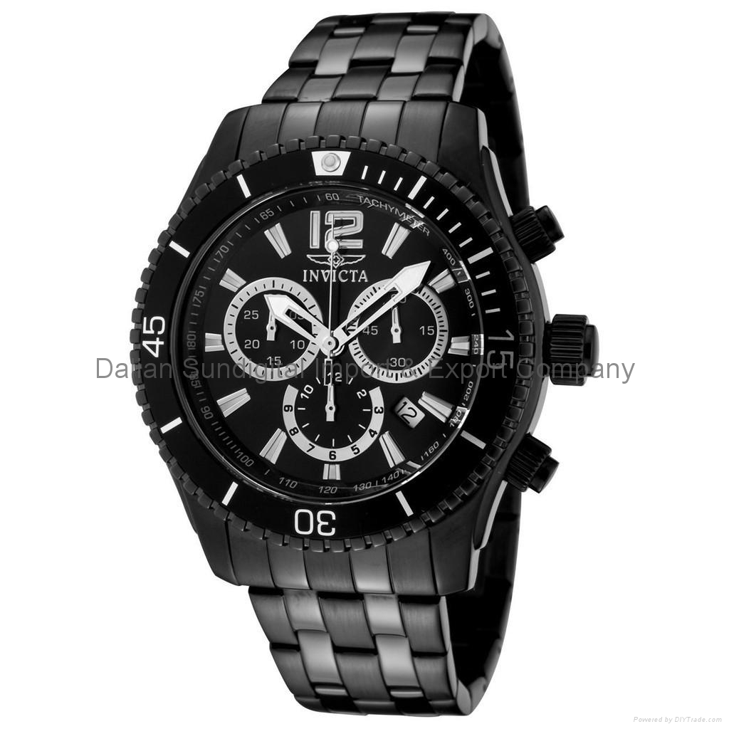 Invicta II Black Ion-plated Chronograph Mens Watch 0624 1