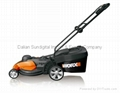 Worx WG708 17 Inch Electric Corded Lawn Mower 13 Amp Quiet Brand New 3 in 1