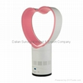 "New No Blade 12"" Bladeless Table Portable Fan Heart Shape Pink Air Multiplier"