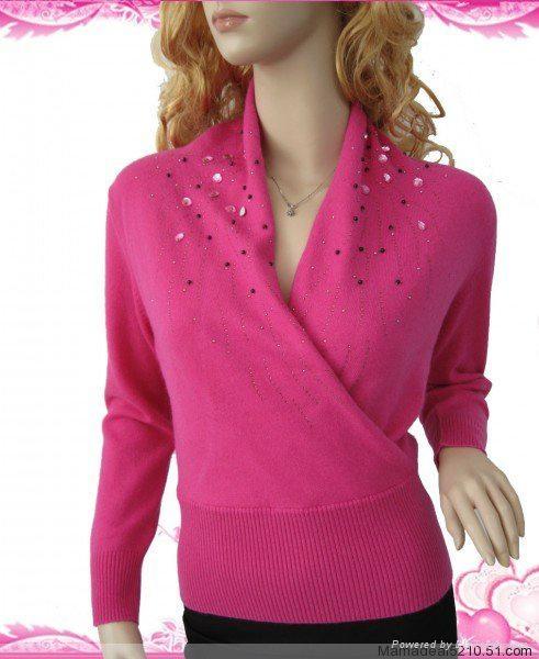 Ladies' cashmere sweater 1