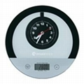 Quartz Clock Kitchen Electronic Scales with Tare Function 2