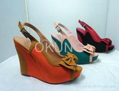 Ladies platform nice sample sandal with high quality and reasonable comfortable