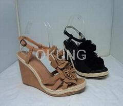 Lady platform sandal for Spring and Summer footwear