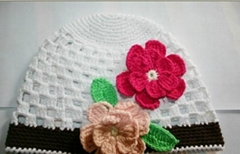 crochet hats with flower