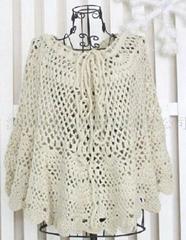 Hand crochet sweater
