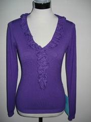 Lady's knitting sweater