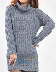 Winter turtleneck knitting sweater