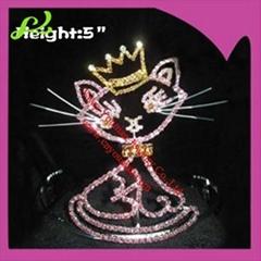 5inch hello kitty rhinestone pageant crown