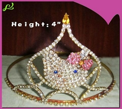 4inch hello kitty pageant crown