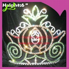 6inch pumpkin halloween crown