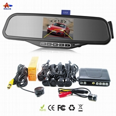 ALD100C--Bluetooth Rearview Mirror with 3.5''TFT & Wired Back-up Camera and 4 Pa
