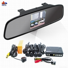 ALD32B--3.5 inch Digital TFT-LCD Rearview mirror with camera and 4 parking senso