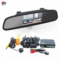 ALD42B--4.3 inch Digital TFT-LCD Rearview mirror with camera and 4 parking senso