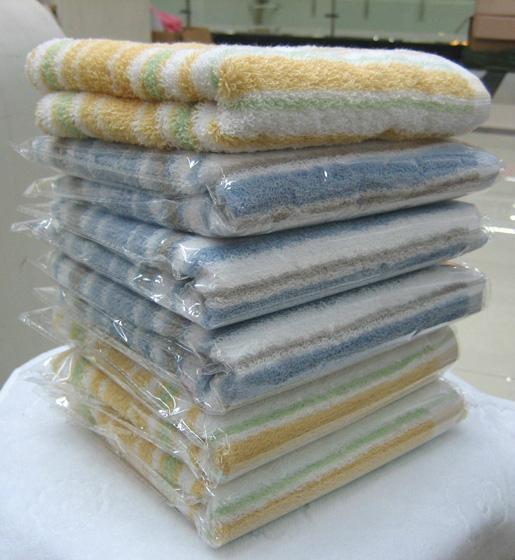 0107彩條毛巾  1