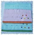 緞繡蝴蝶毛巾