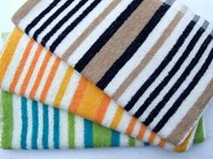 歐彩毛巾 色織彩條毛巾