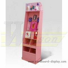 Compartment Cardboard Display Display with hooks