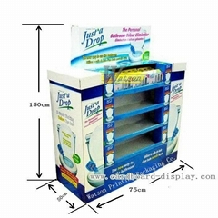 Cardboard pallet display rack for cleaning spray