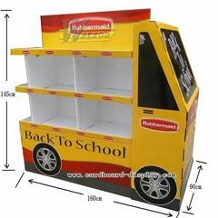 lunch box cardboard pallet display stands for supermarket promotion