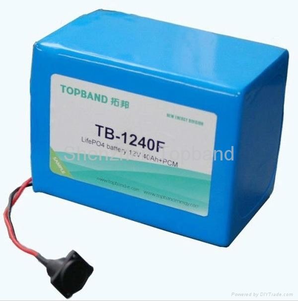 12v 40ah golf trolley battery with lifepo4 battery tb 1240fg topband china manufacturer. Black Bedroom Furniture Sets. Home Design Ideas