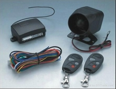 Basic one car alarm system with bilt-in shock sensor