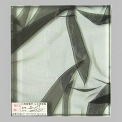 上海旭日梅兰立体布纹夹胶玻璃
