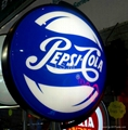 Pepsi Round rotating light box