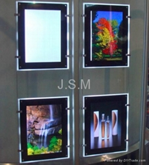 led frameless crystal light box for indoor display
