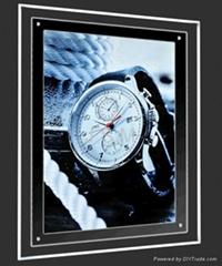 led frameless crystal light box for indoor display