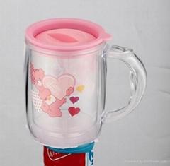 double wall new plastic coffee mug