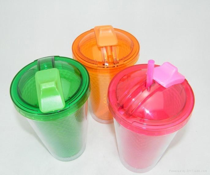 double wall plastic coffee mug 2